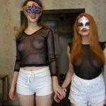 Carolina and Alice Dirty White Shorts Panty Scat [FullHD / 2020]