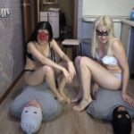 2 slaves VS 2 mistresses. Sport competitions! human toilet [FullHD / 2020]