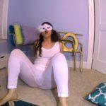 White Tights BUBBLE Guts with LoveRachelle2 Fart Girl [UltraHD/4K]